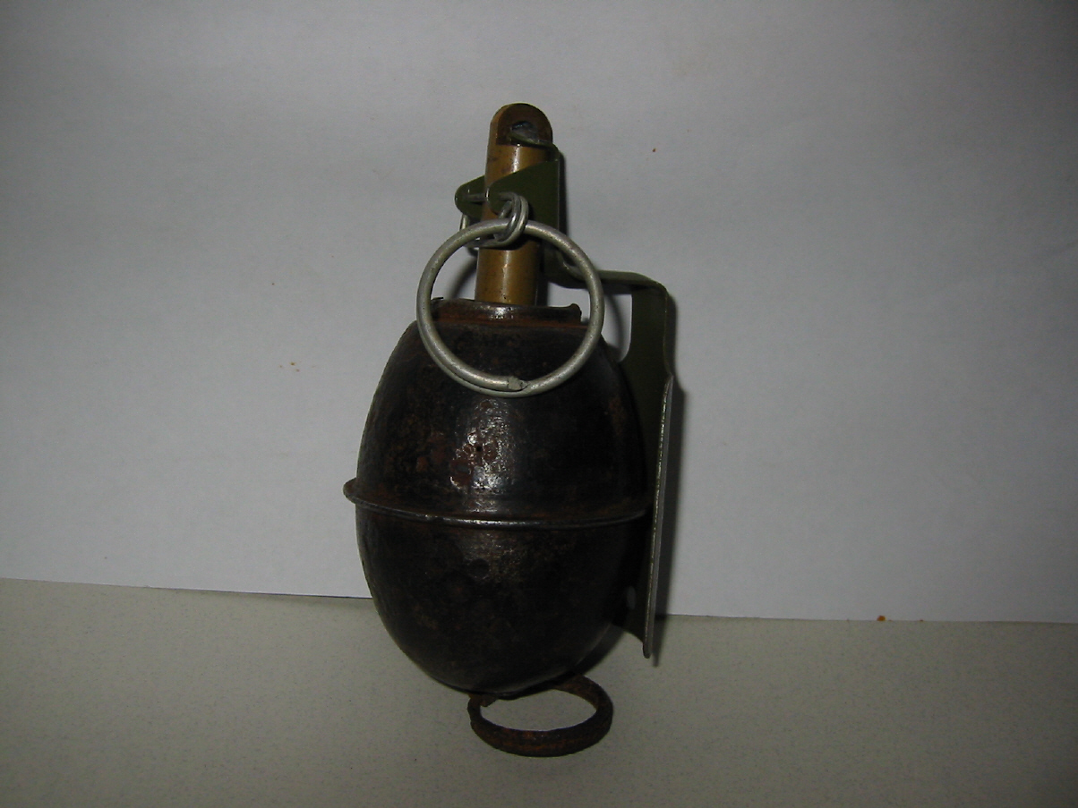Norwegian M39 Offensive Grenade W   Tennmek Fuze  This Used The Body Of The German M39